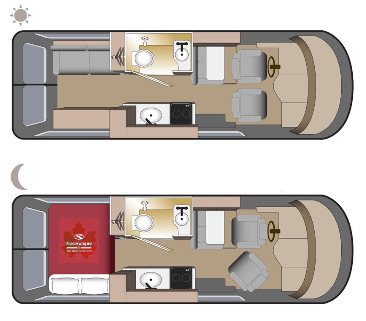 Fraserway Van Conversion floorplan