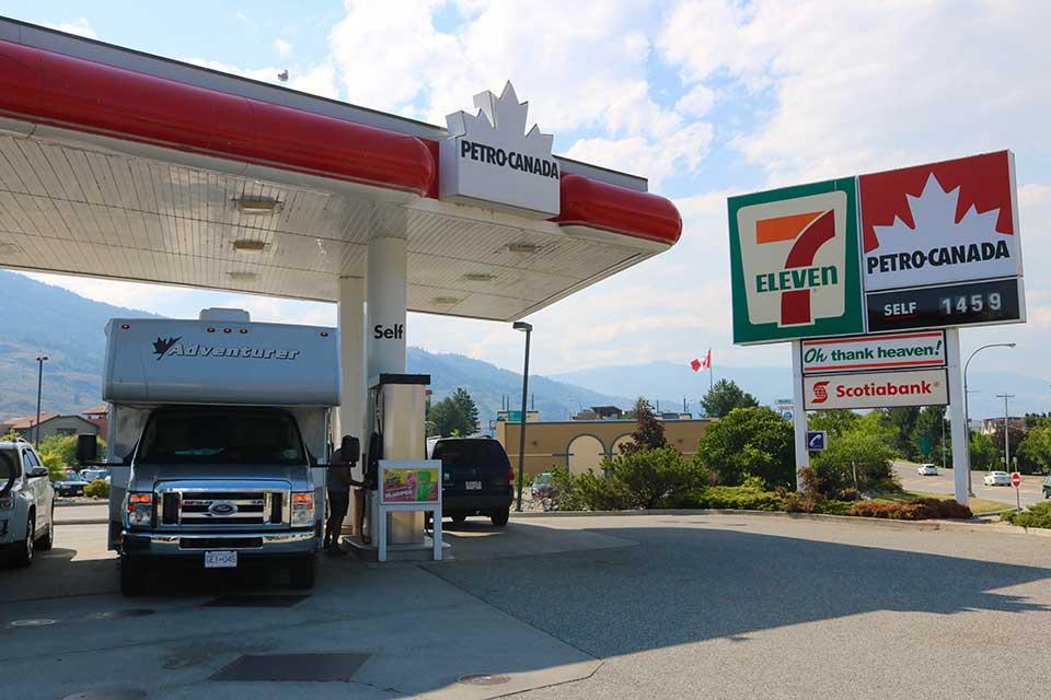 Tanken in Canada