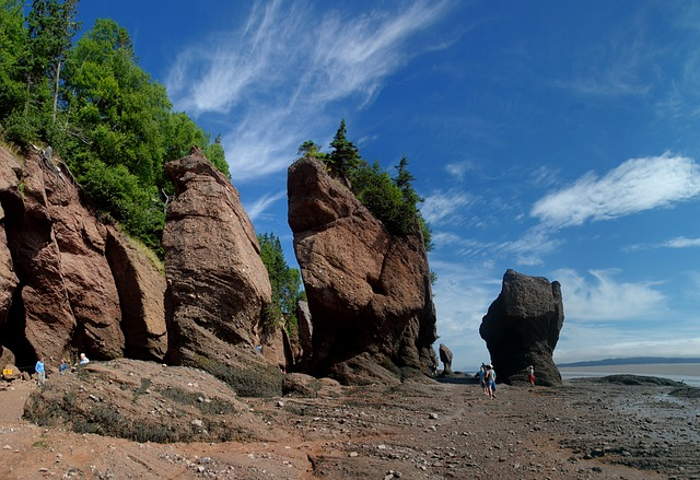 Hopewell Rocks in de Bay of Fundy