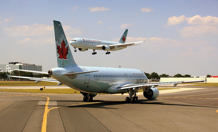 Air Canada aankomst