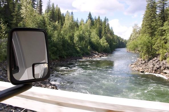 Camper in west Canada