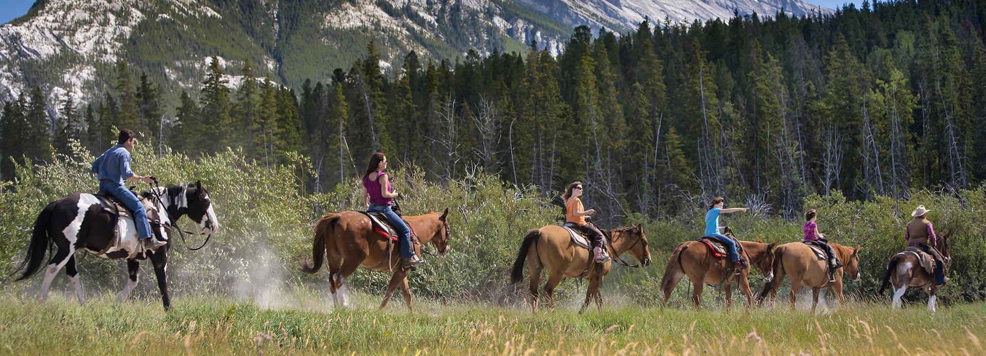 Paardrijden in de Rocky Mountains