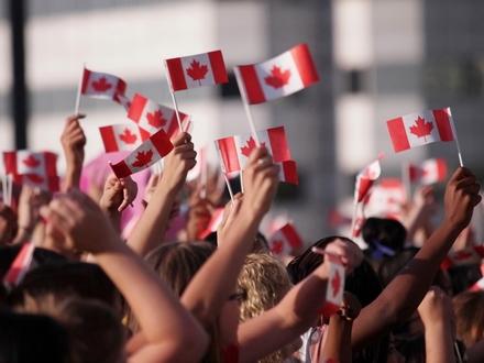 Canada vlaggen
