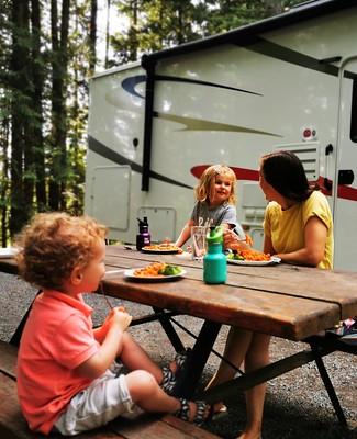 Kamperen met kinderen in Canada-eten