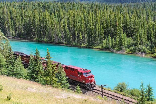 West Canada trein rocky mountains